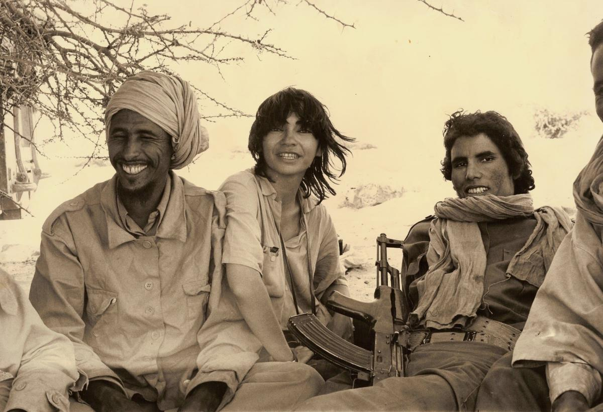 (2) With combatants of the Polisario Front while filming Sahara Is Not for Sale (1977)