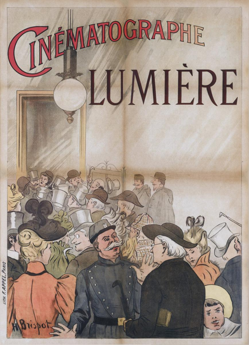 (1) The first poster announcing the Lumière cinematograph.