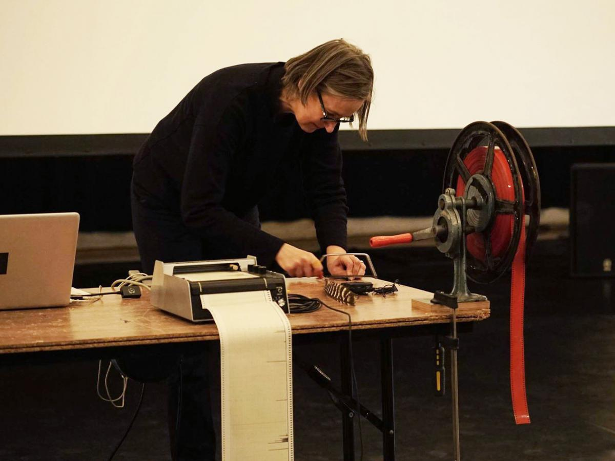 Hilde D'Haeyere, performance during the previous Visite Film Festival