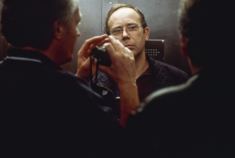 (3) Jean-Pierre Dardenne, Olivier Gourmet en Luc Dardenne op de set van Le fils (Jean-Pierre Dardenne & Luc Dardenne, 2002)