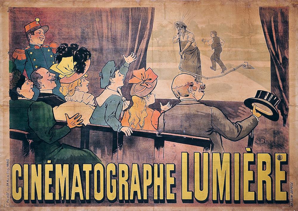 (3) Poster Cinématographe Lumière