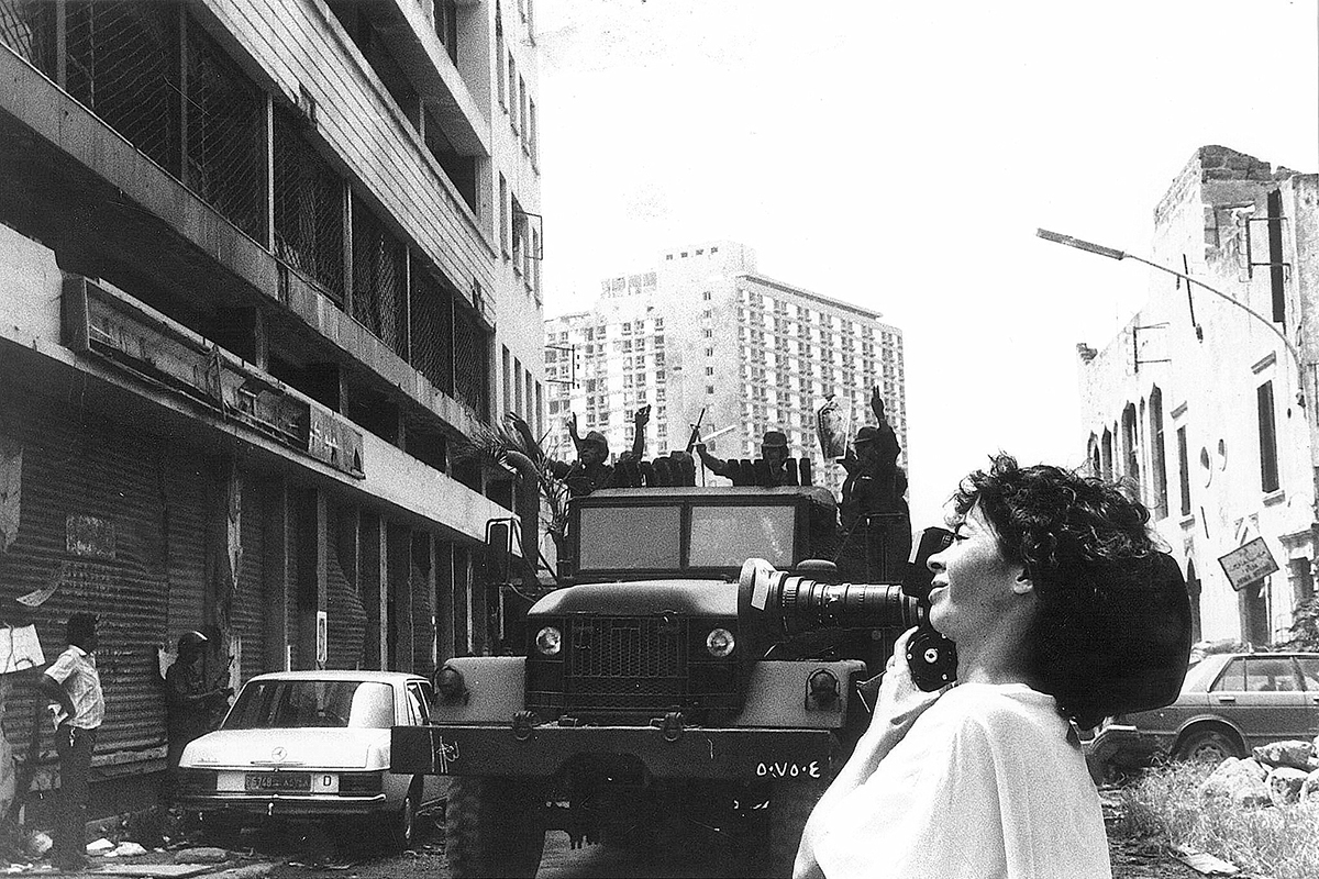 (1) Filming Beirut, My City (1982). Picture by Farida Hamak