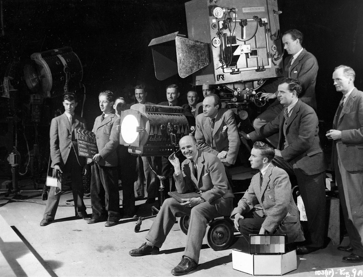 On the set of A Matter of Life and Death