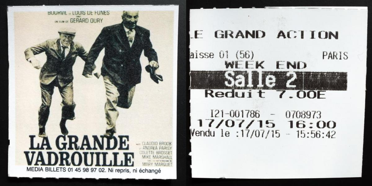 (3) Filmticket Le Grand Action